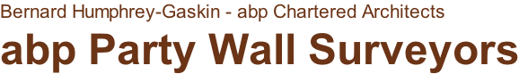 Bernard Humphrey-Gaskin - abp Chartered Architects abp Party Wall Surveyors